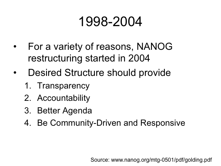 New NANOG Principles