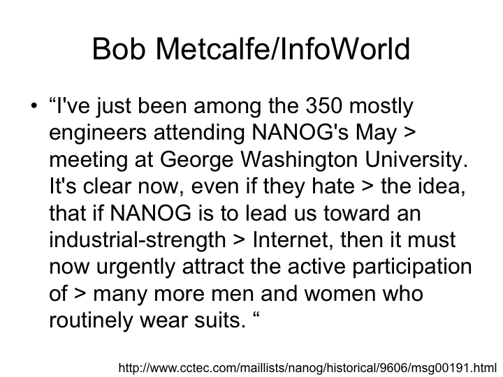 Bob Metcalfe's Words